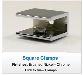 Square Shower Shelf Clamp