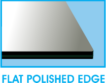 Square Flat Polished Edge
