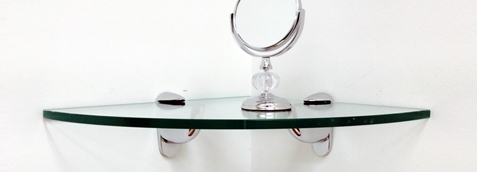 Heron Corner Glass Shelf