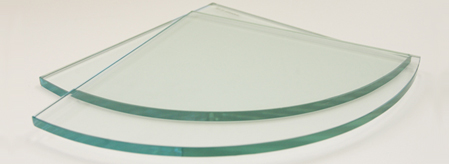 Quarter Round Glass Corner Shelf Only - No Brackets