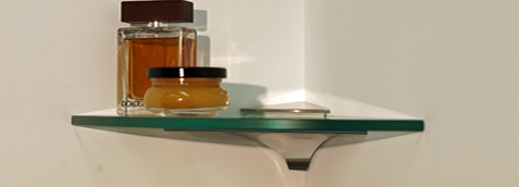 Wren Corner Glass Shelf